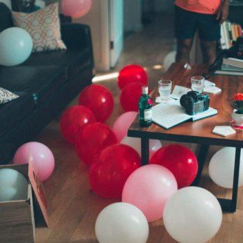 assorterd-color balloons
