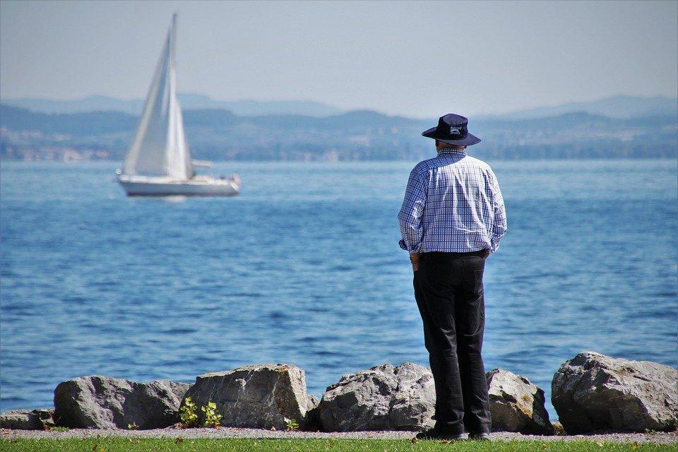 Senior, The Sail, Lake, Sailboat, Elderly People